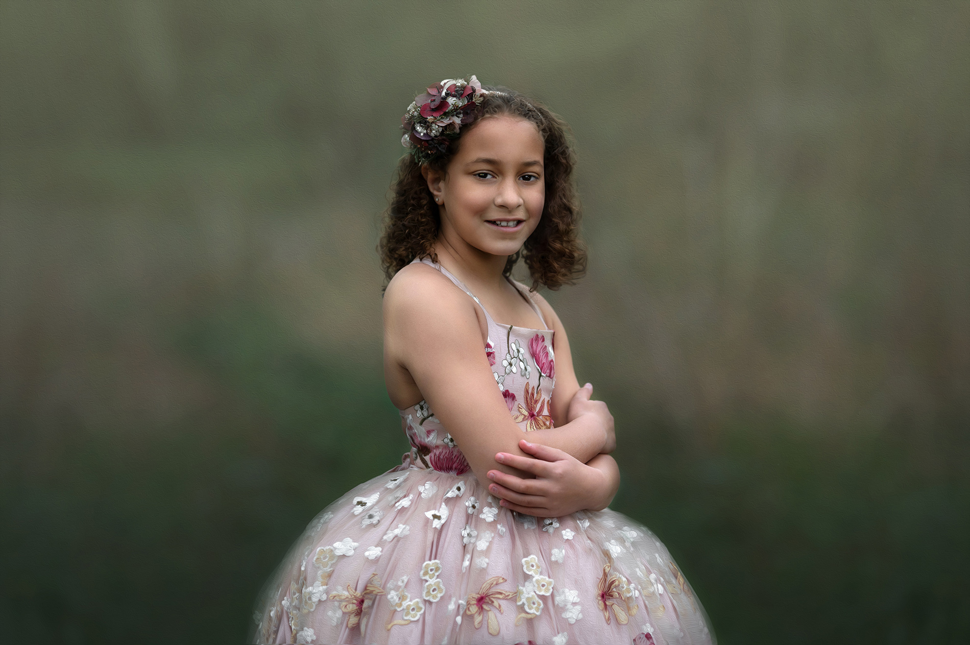 child in gown for child photography session