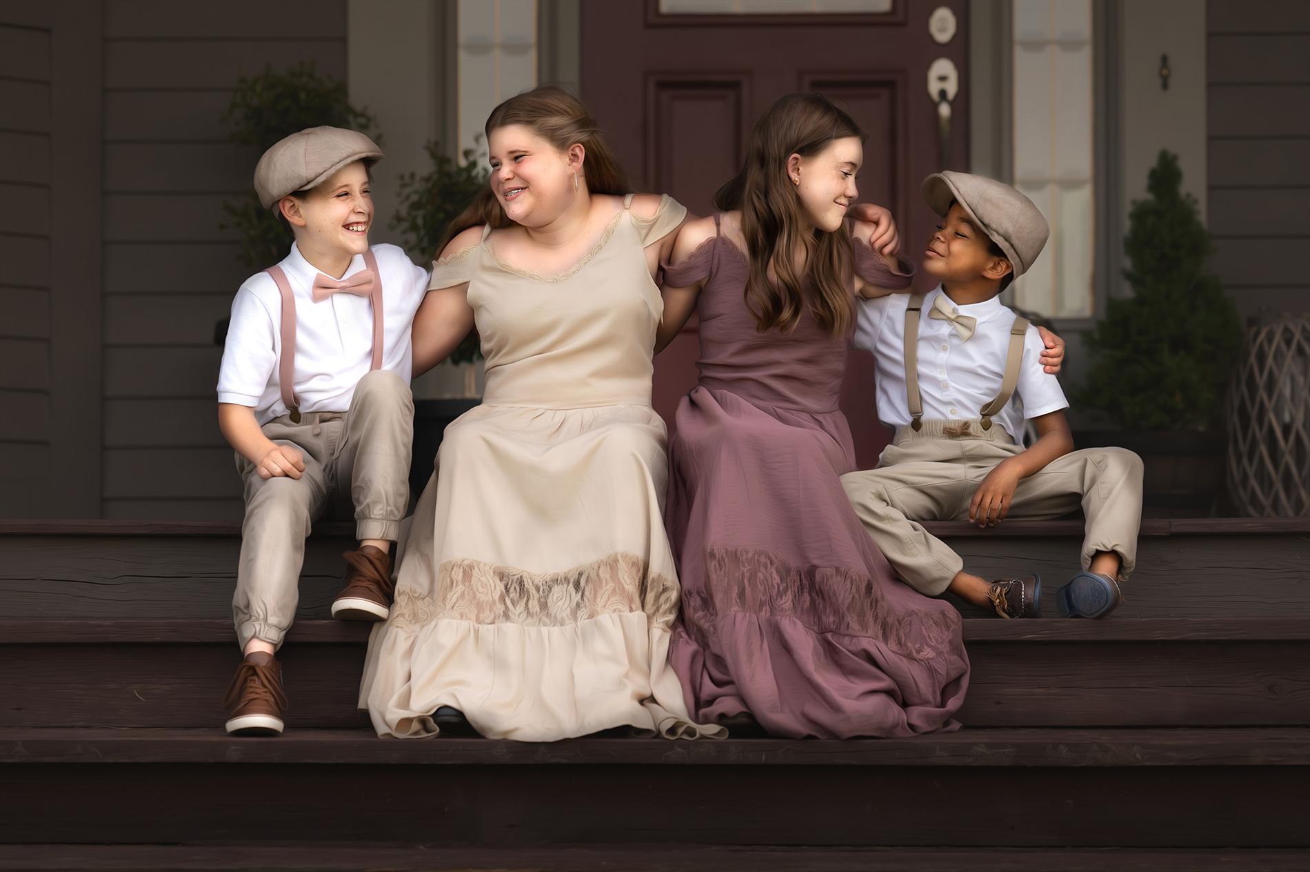 Children on the porch