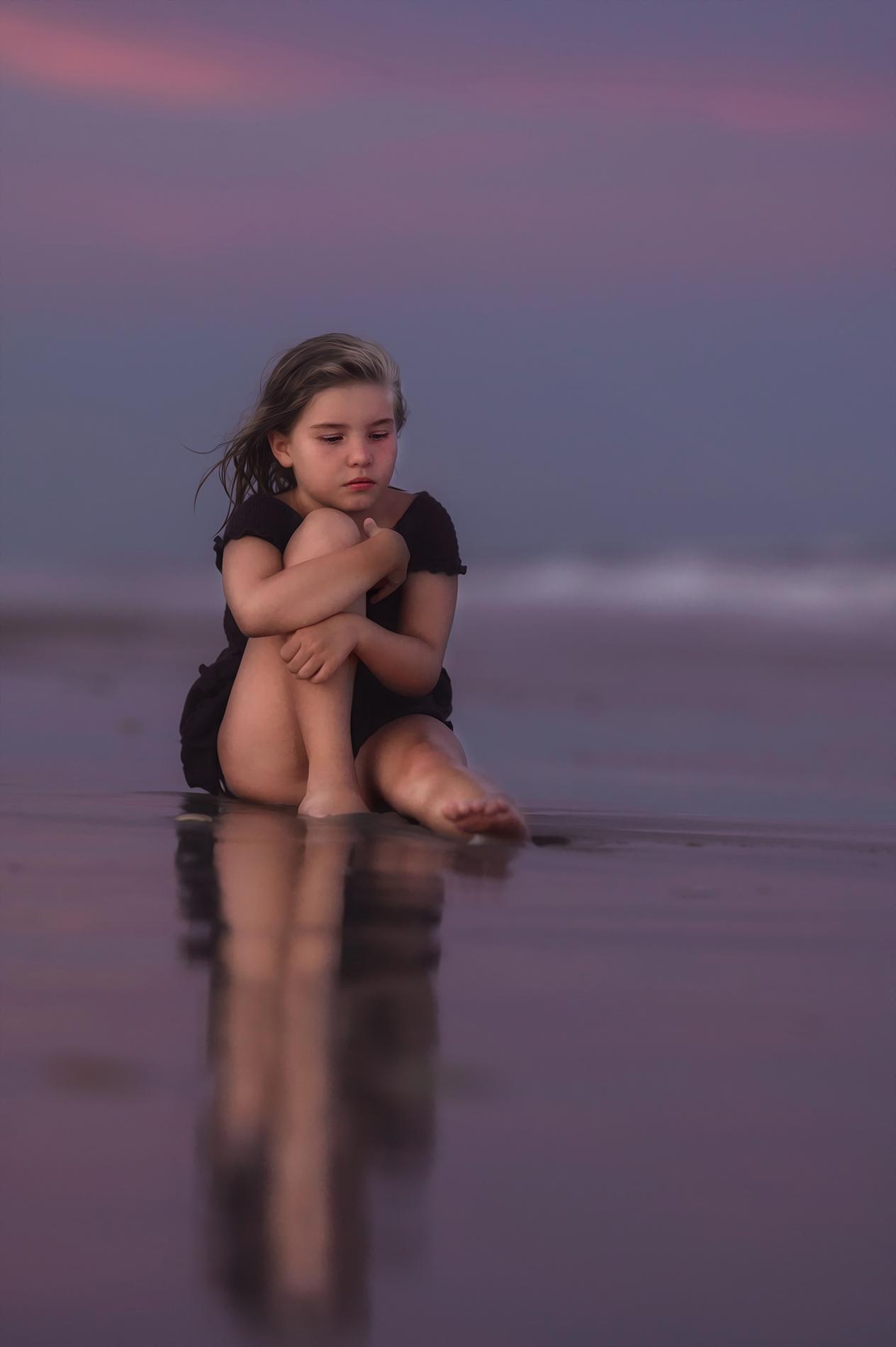 child on beach portrait